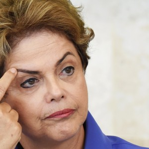Brazilian President Dilma Rousseff speaks during meeting of the Vocational Education Project for Young People, the Pronatec, at Planalto Palace in Brasilia on July 28, 2015. Seeking to improve her popularity, currently about 7% of the population considered good or excellent, the President Rousseff will launch a campaign on social medias with videos that show the action of her government.  AFP PHOTO / EVARISTO SA        (Photo credit should read EVARISTO SA/AFP/Getty Images)