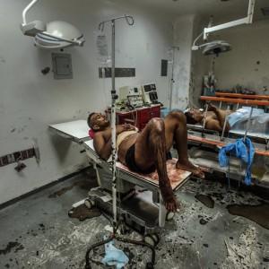 Hospital em Barcelona, Venezuela. Foto de Meridith Kohut, The New York Times