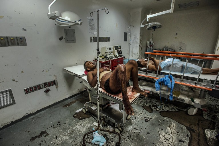 Hospital em Barcelona, Venezuela. Foto de Meridith Kohut, The New York Times