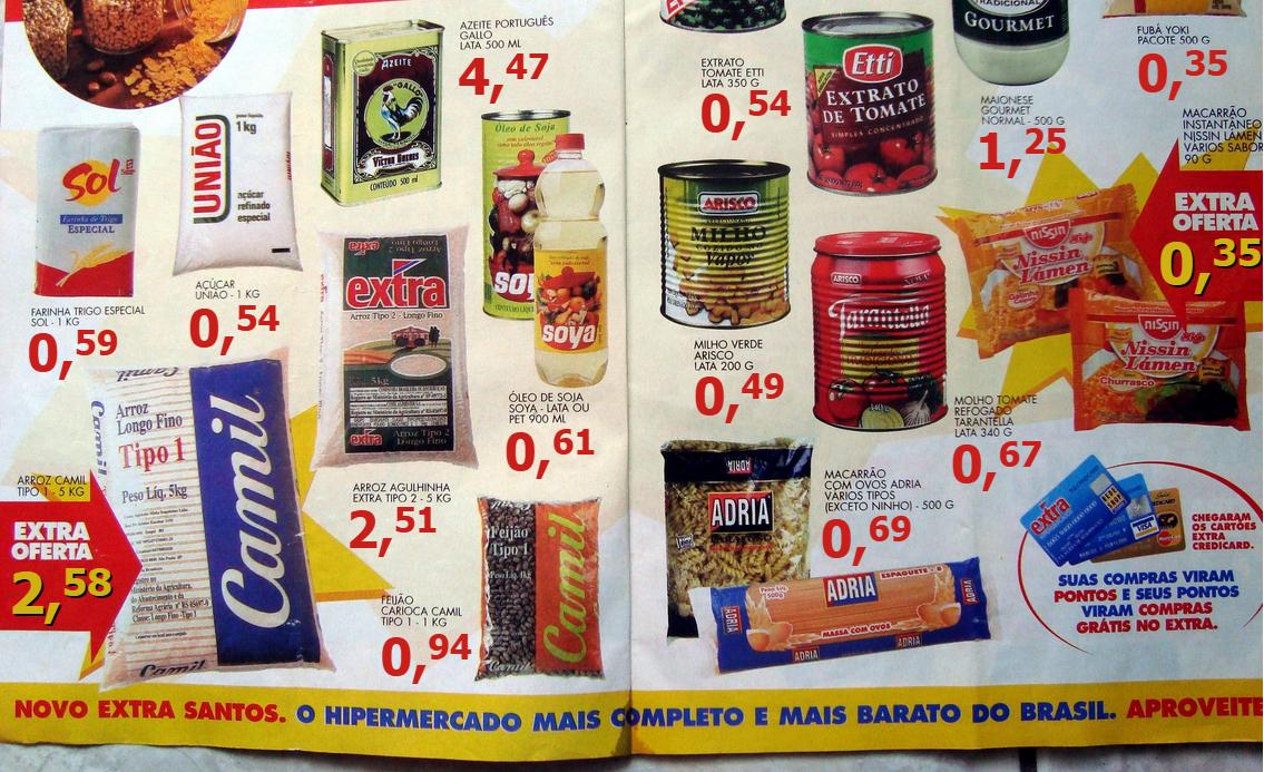 Inflação na vida real: com esse panfleto de 1994, veja como há 20 anos uma unidade de real comprava muito mais produtos!