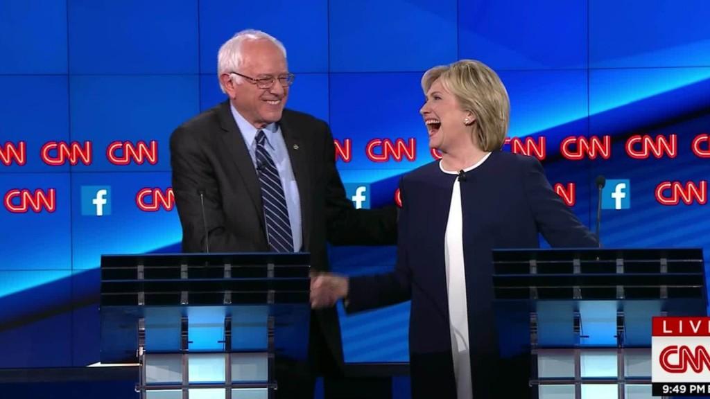 Sanders e Clinton