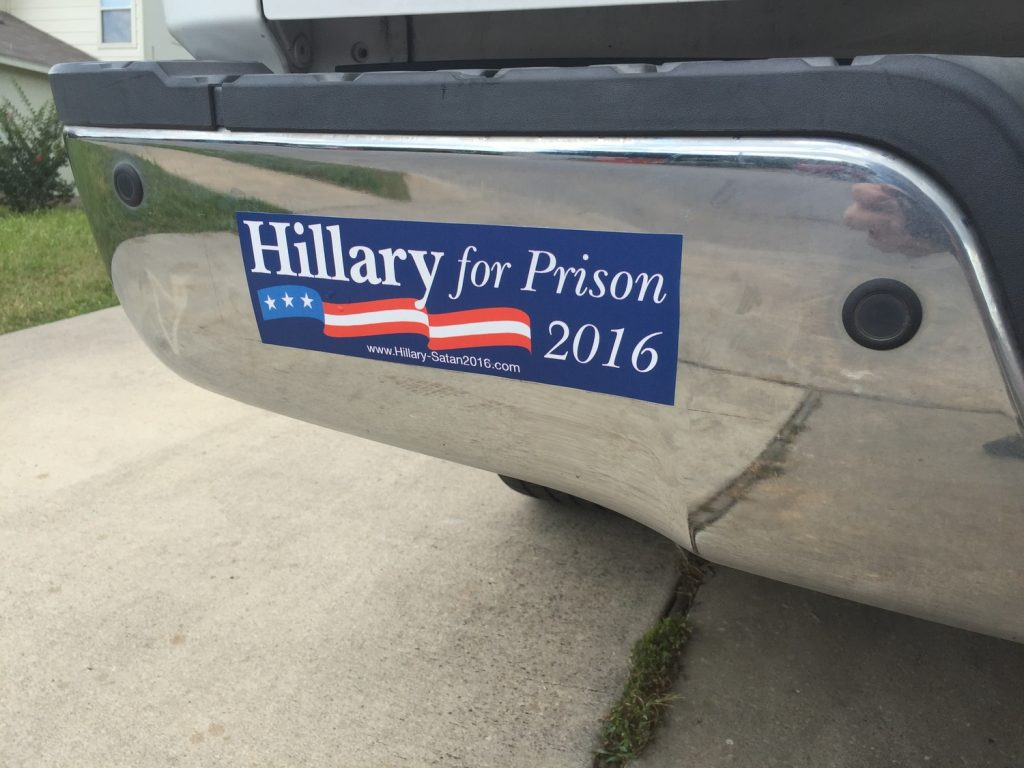 hillaryforprison_bumper_sticker